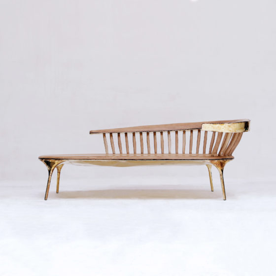 Valentin LOELLMANN Brass Lounge Chair