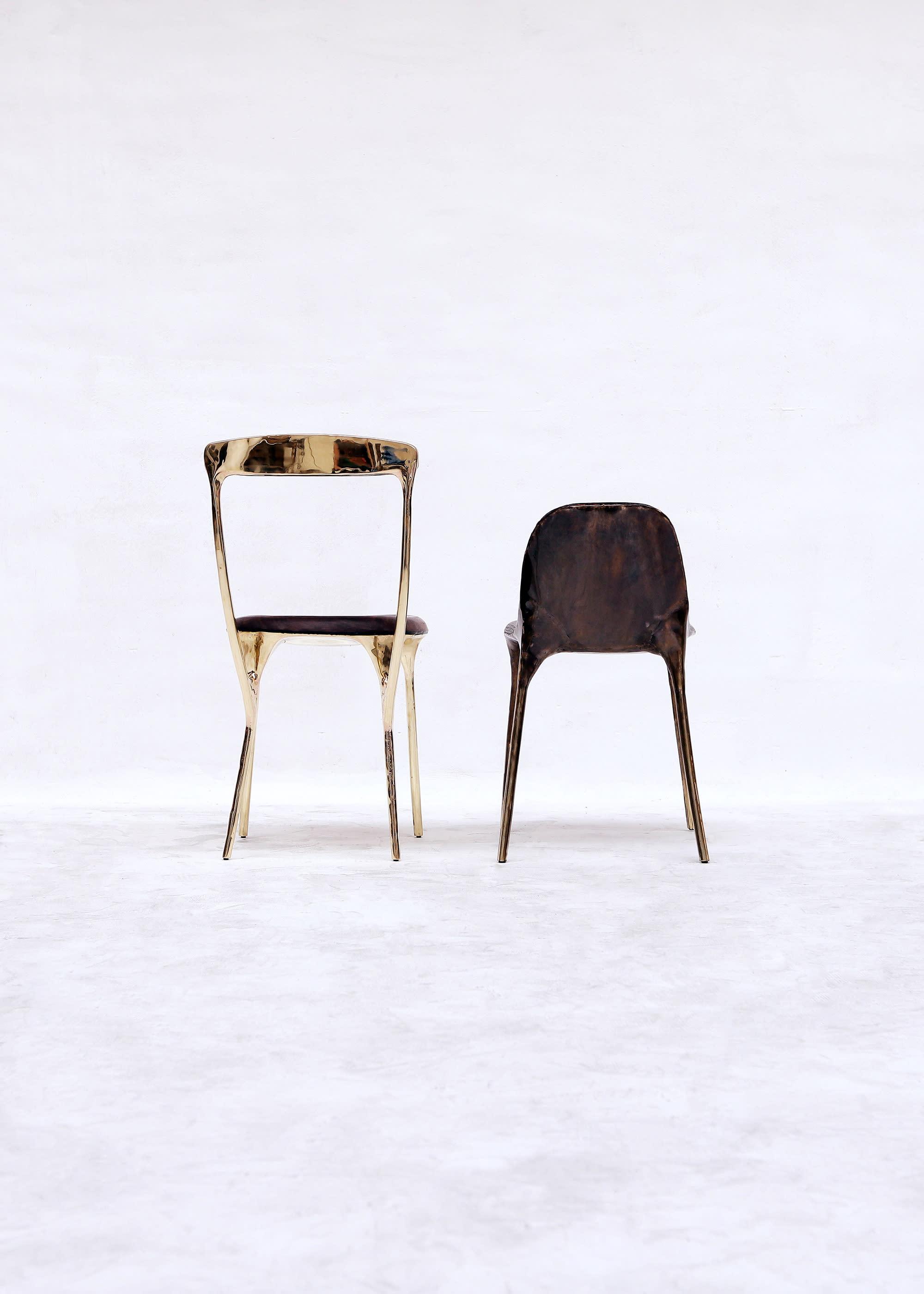 Valentin LOELLMANN Brass Black Chair